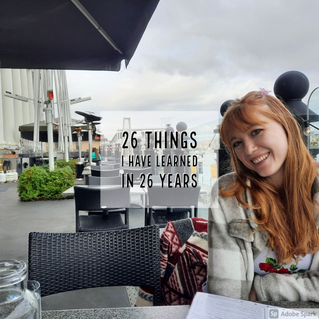 26 things I have learned in 26 years